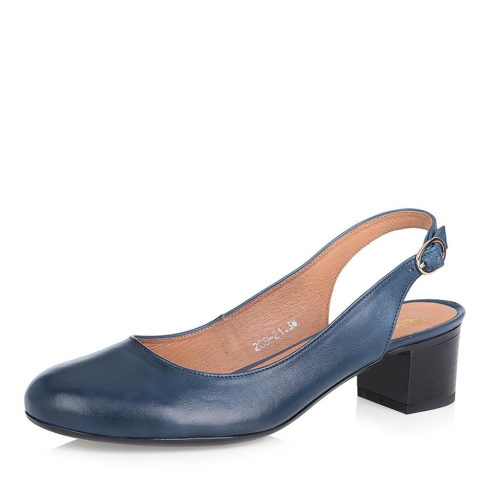 Синие туфли с открытой пяткой фото