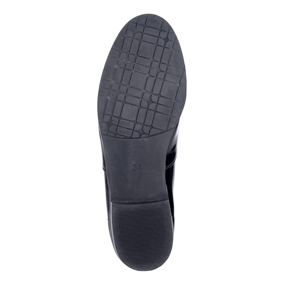 Черные полуботинки из лакированной кожи4