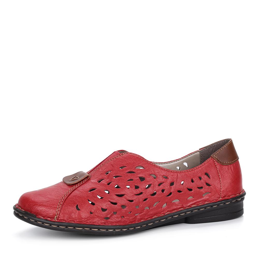 Красные кожаные туфли от Rieker