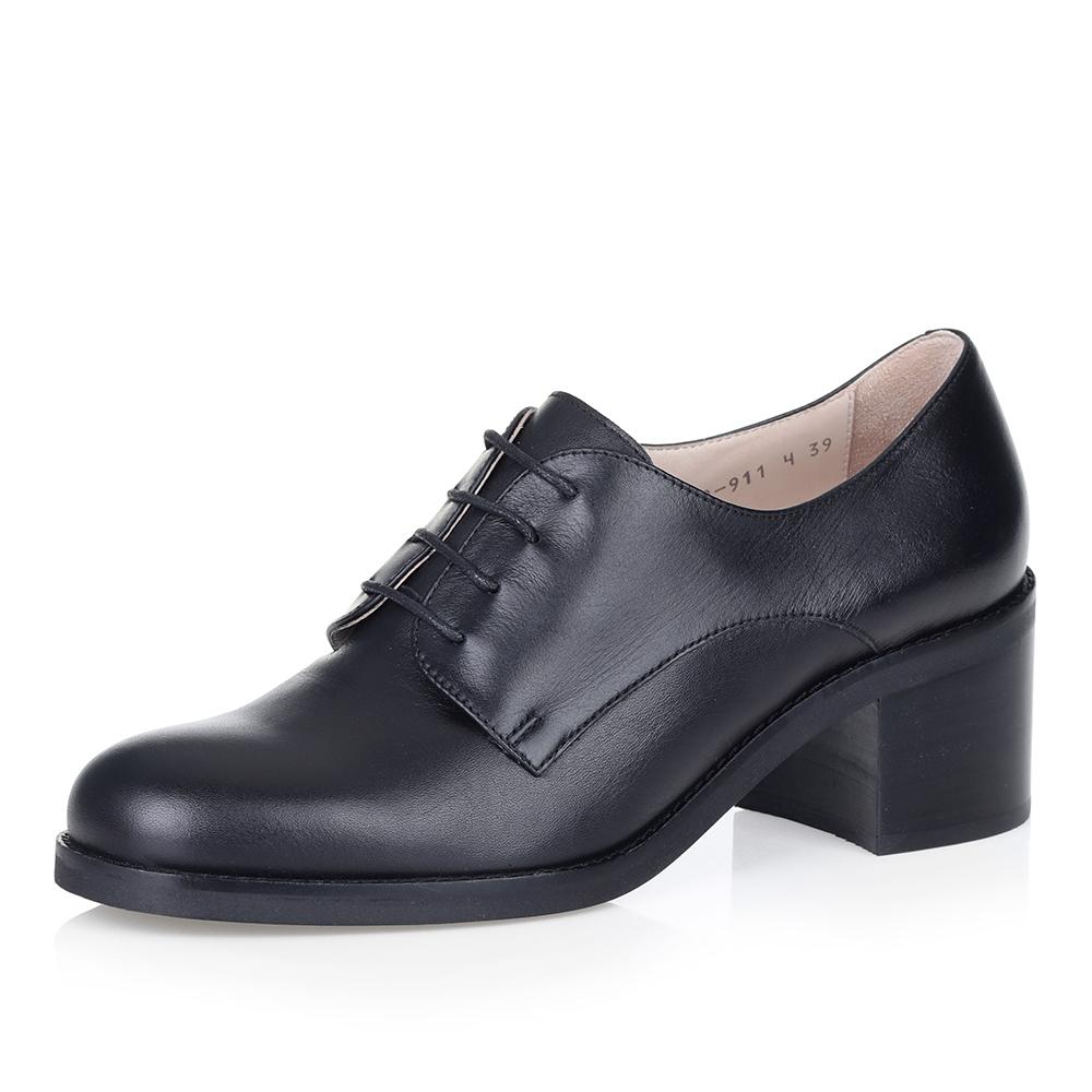 Купить со скидкой Черные полуботинки на среднем каблуке
