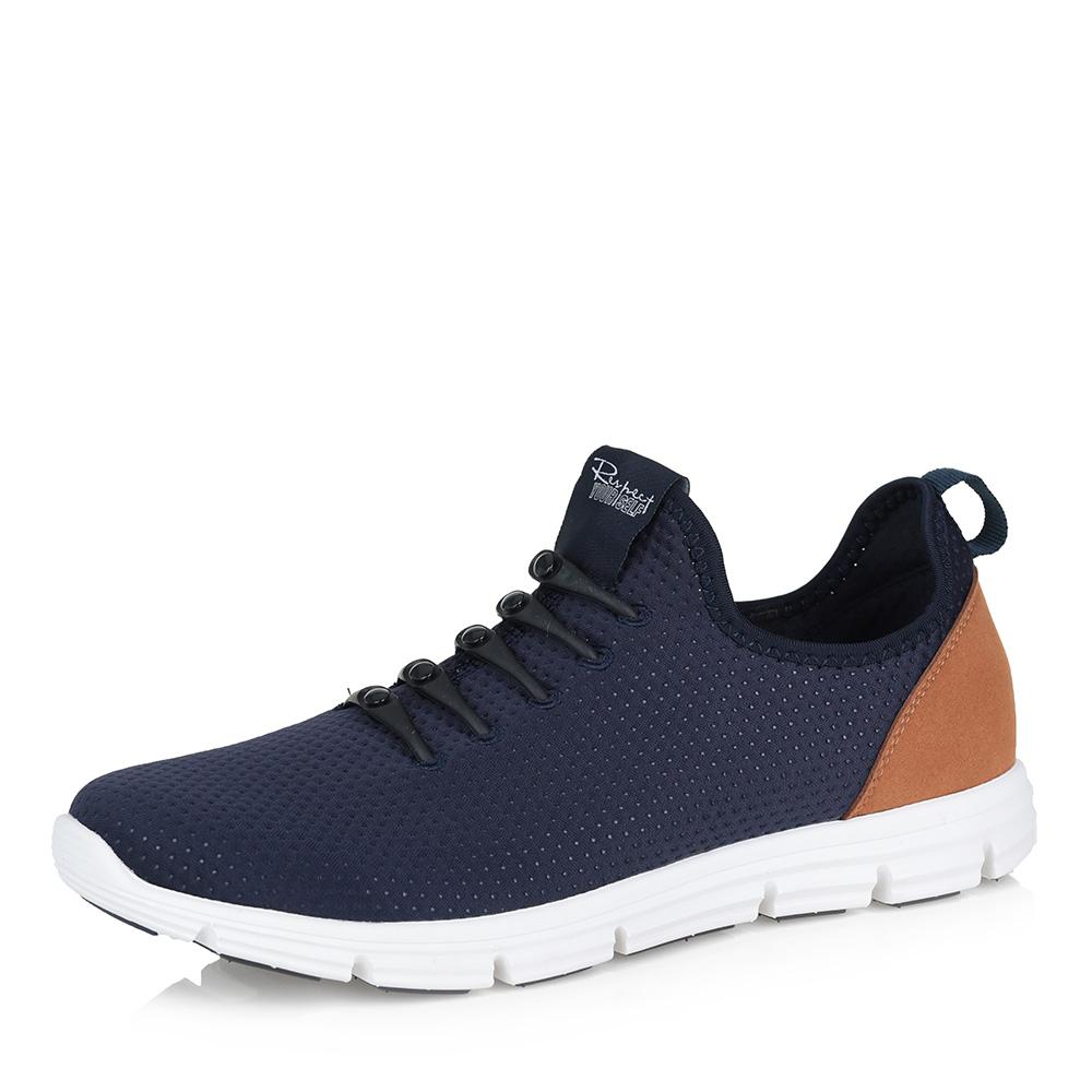 Синие текстильные кроссовки фото