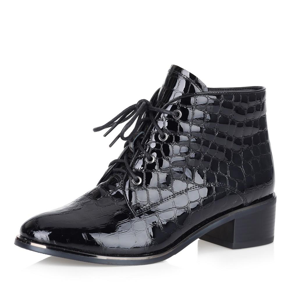Купить со скидкой Черные ботинки из лакированной кожи