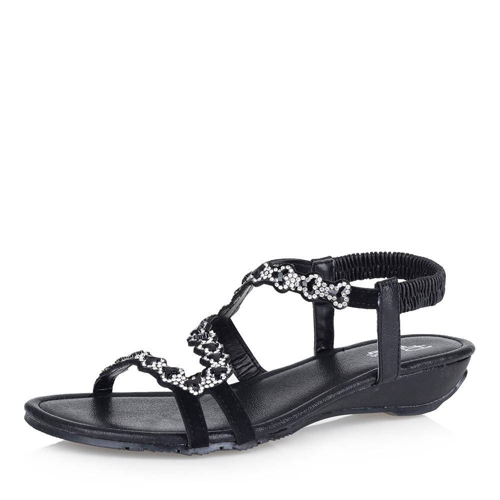 Черные сандалии с декором фото