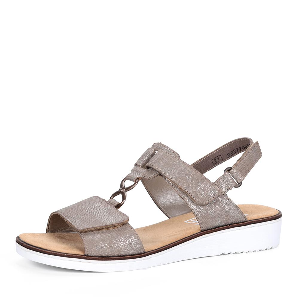 Купить со скидкой Бежевые сандалии из эко кожи