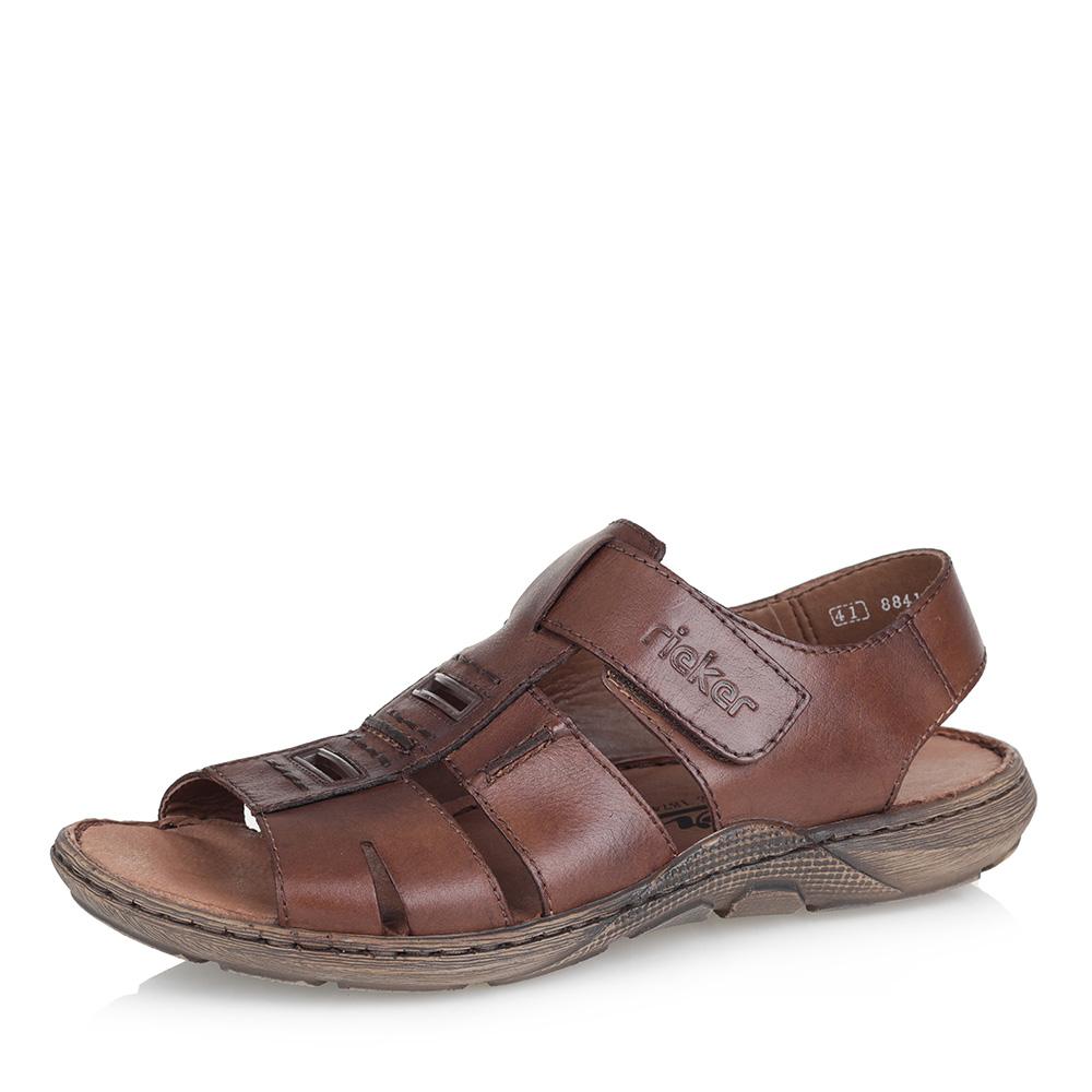 Купить со скидкой Коричневые кожаные сандалии