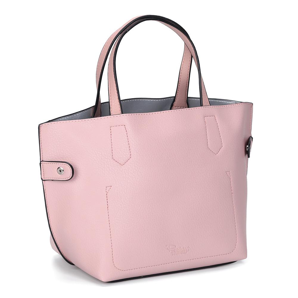 Розовая сумка небольшого размера из экокожи фото