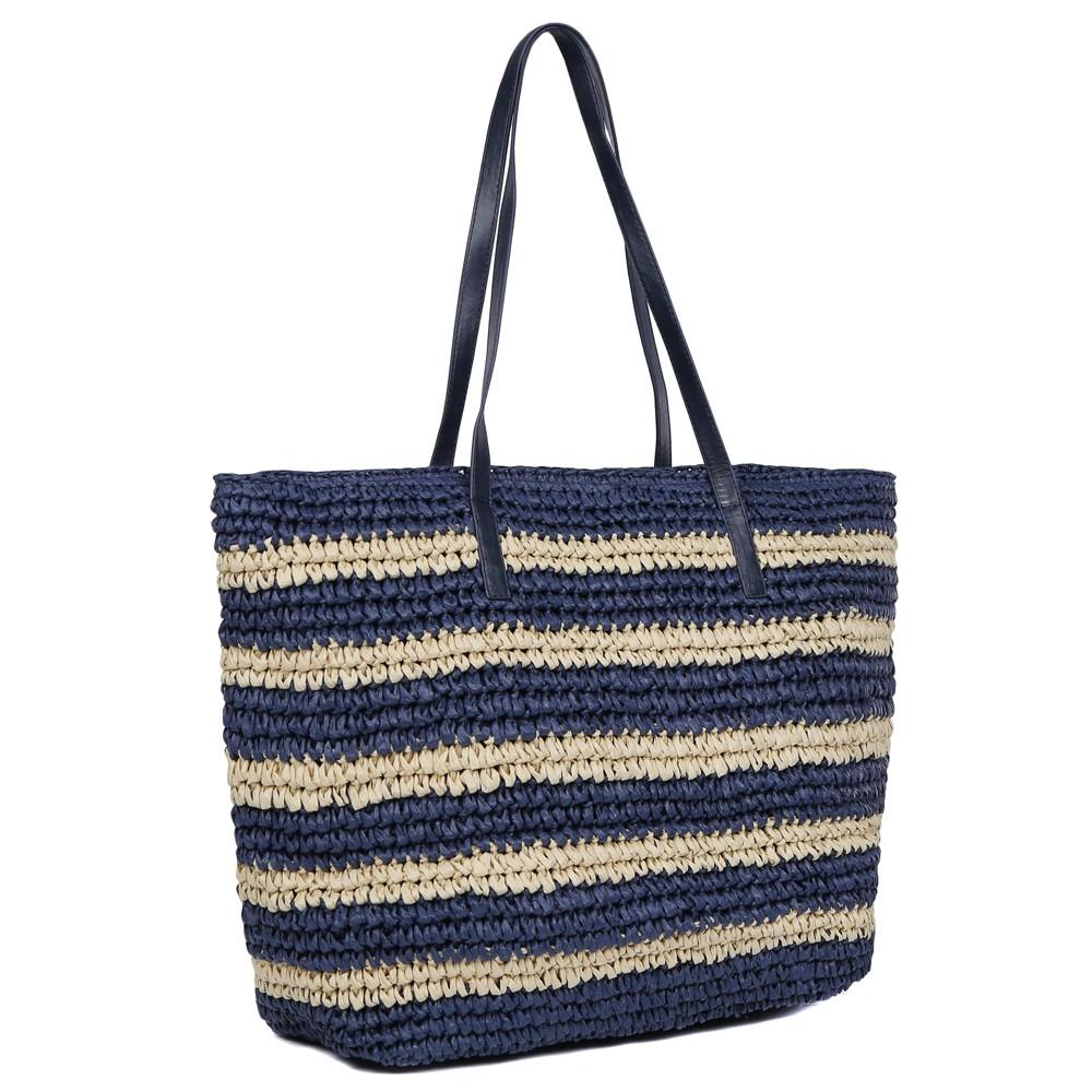 Комбинированная пляжная сумка фото