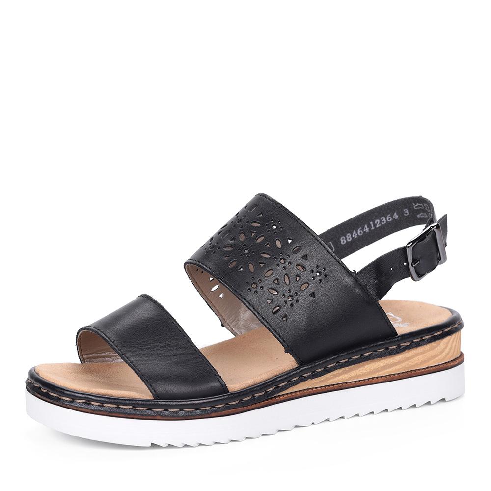 Черные сандалии на комбинированной подошве фото