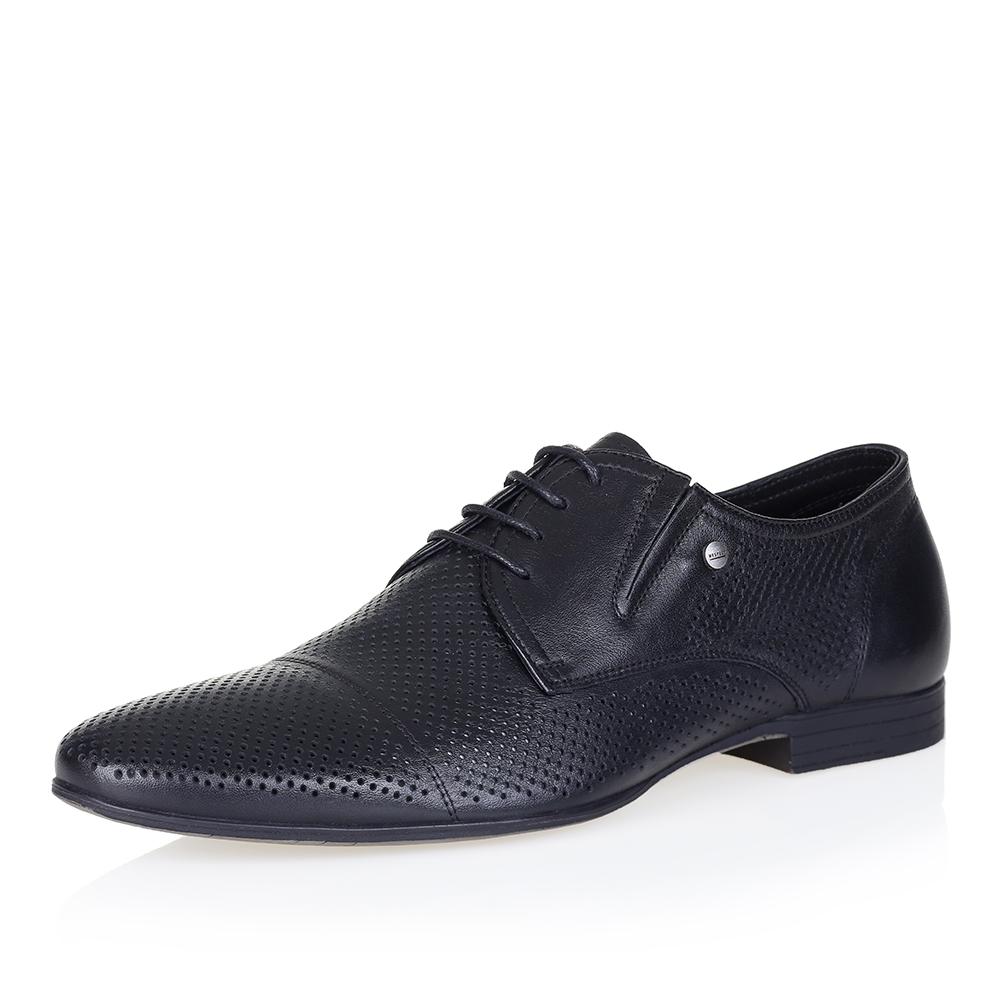 Купить со скидкой Чёрные кожаные полуботинки со шнуровкой