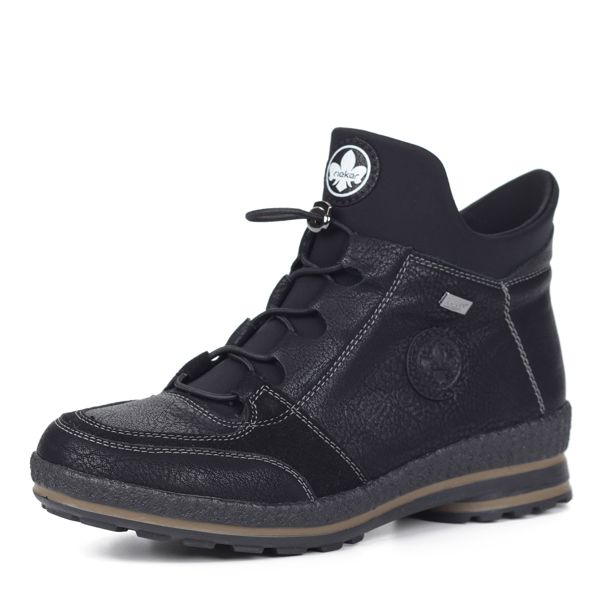 Черные ботинки из экокожи на шерсти