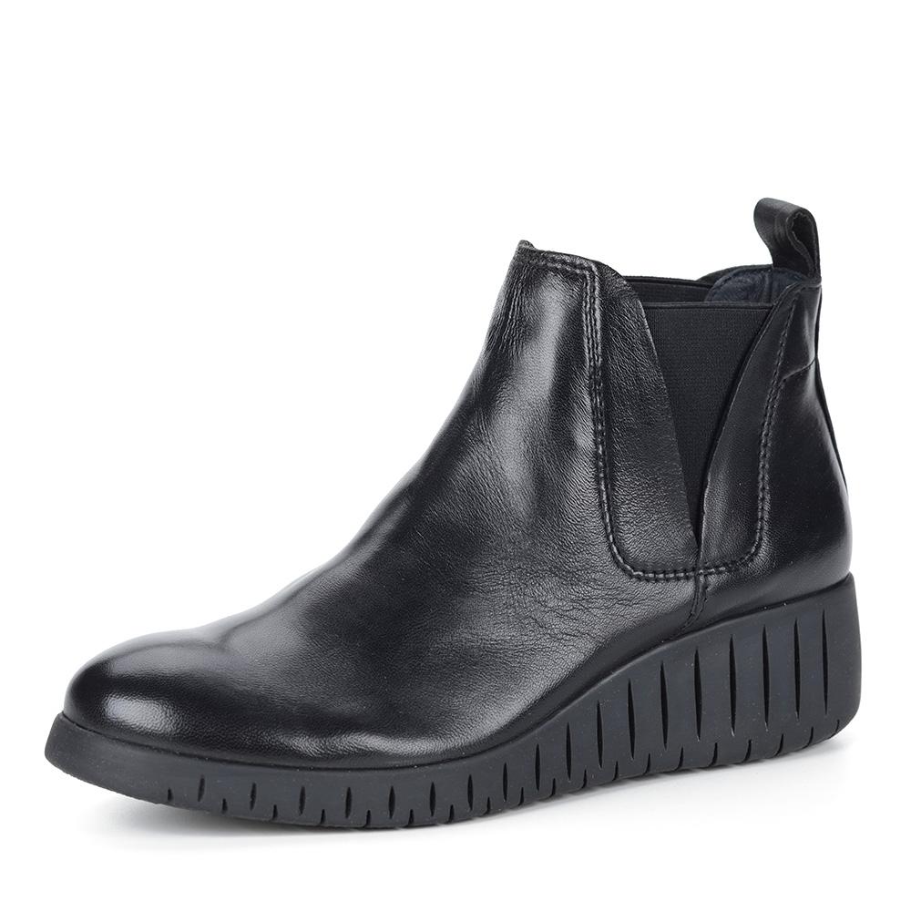 Черные ботинки челси на платформе
