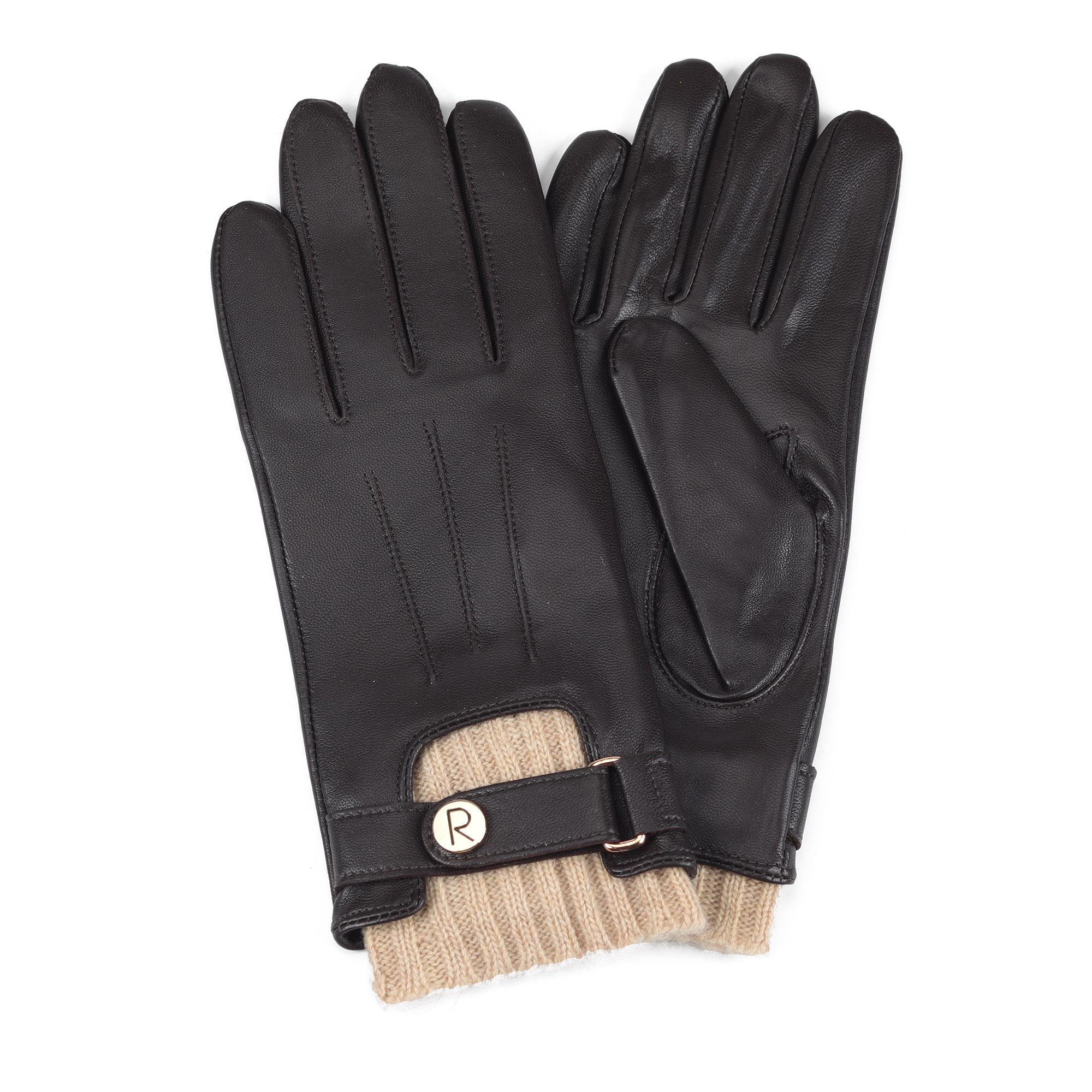 Размер 6.5, кожаные коричневые перчатки