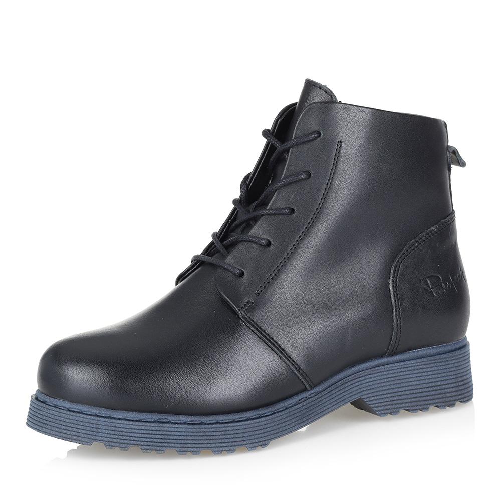 Черные ботинки на контрастной подошве