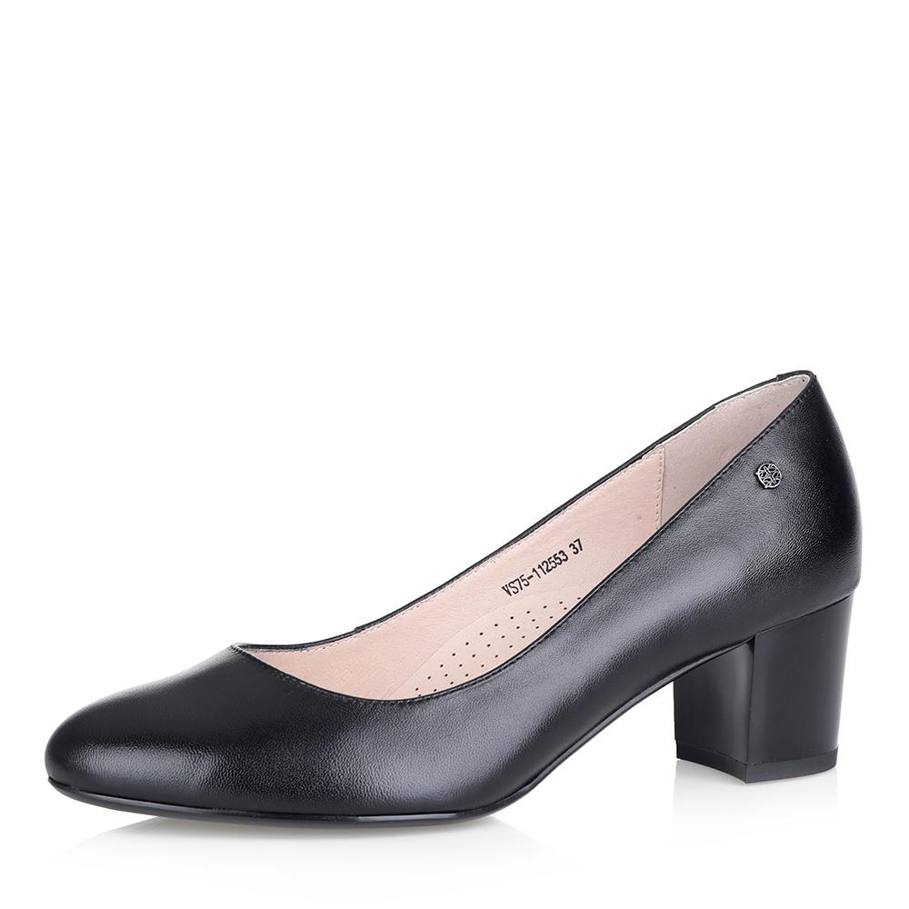 Купить со скидкой Черные лодочки на среднем каблуке