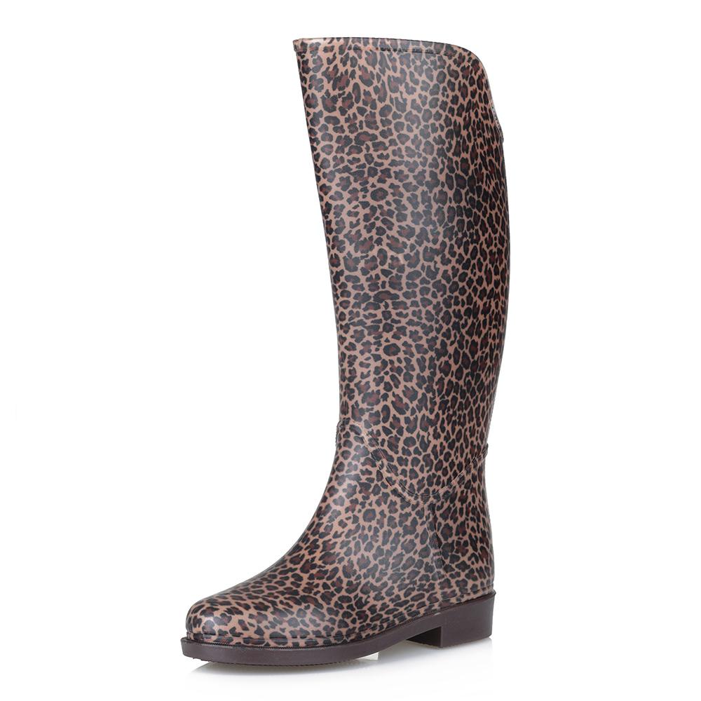 Резиновые сапоги с леопардовым принтом