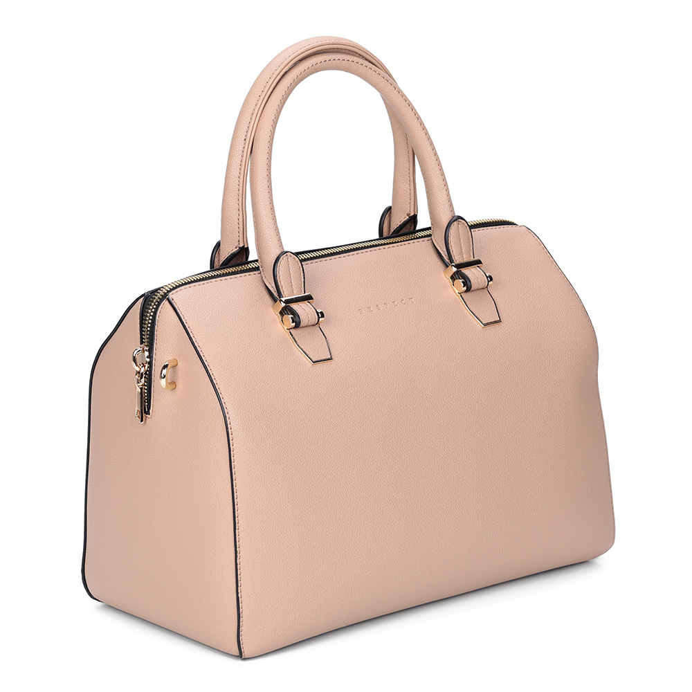 Небольшая розовая сумка с дополнительной ручкой фото