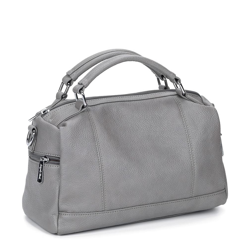 Фото - Серая сумка с дополнительной ручкой от Angelo vani цвет сер.