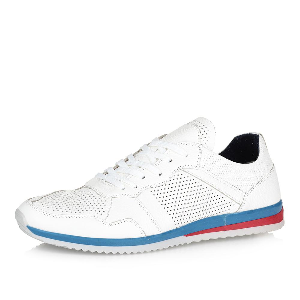 Белые кроссовки на яркой подошве фото