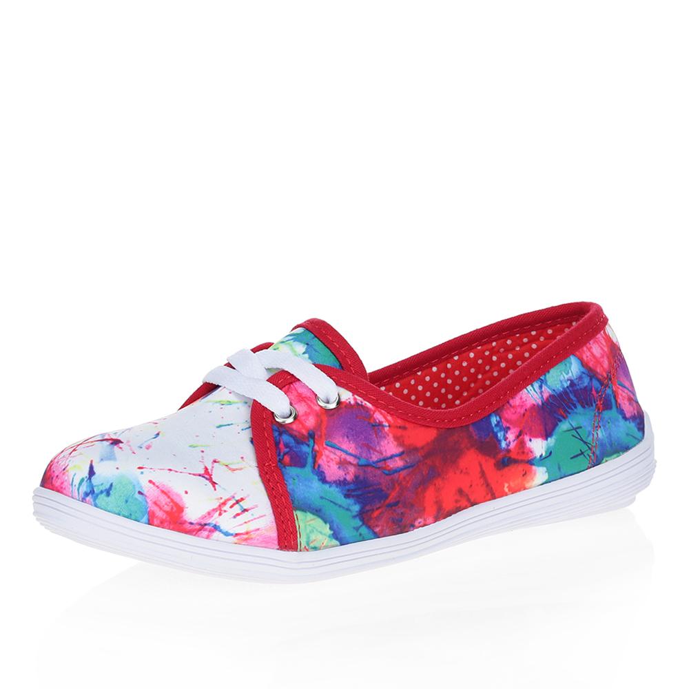 Принтованные туфли из текстиля