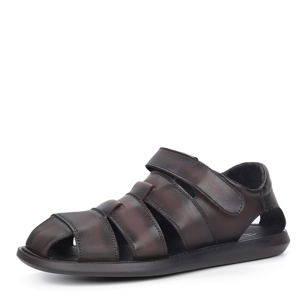 Коричневые закрытые сандалии фото