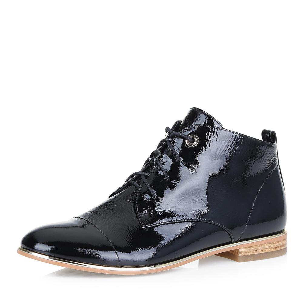 Лаковые ботинки в черном цвете фото
