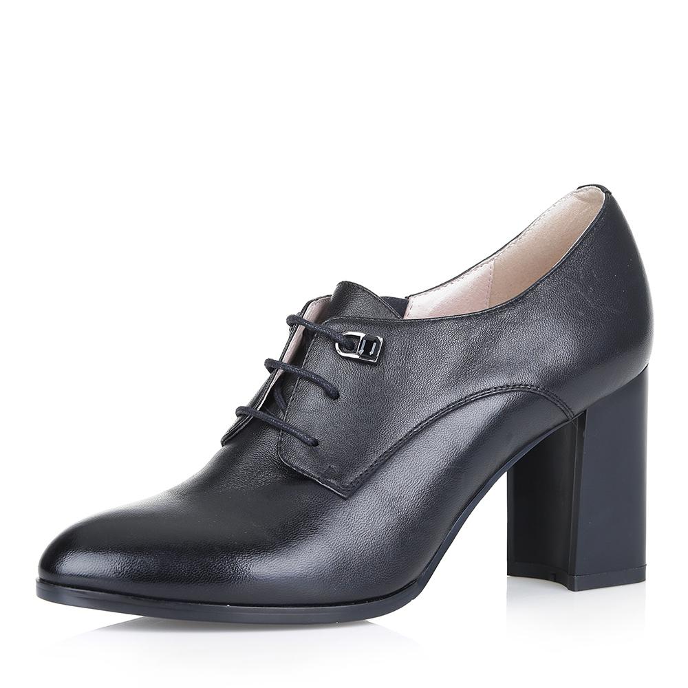 Черные кожаные ботильоны на шнуровке фото