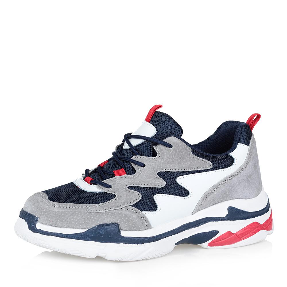 Купить со скидкой Комбинированные кроссовки на массивной подошве