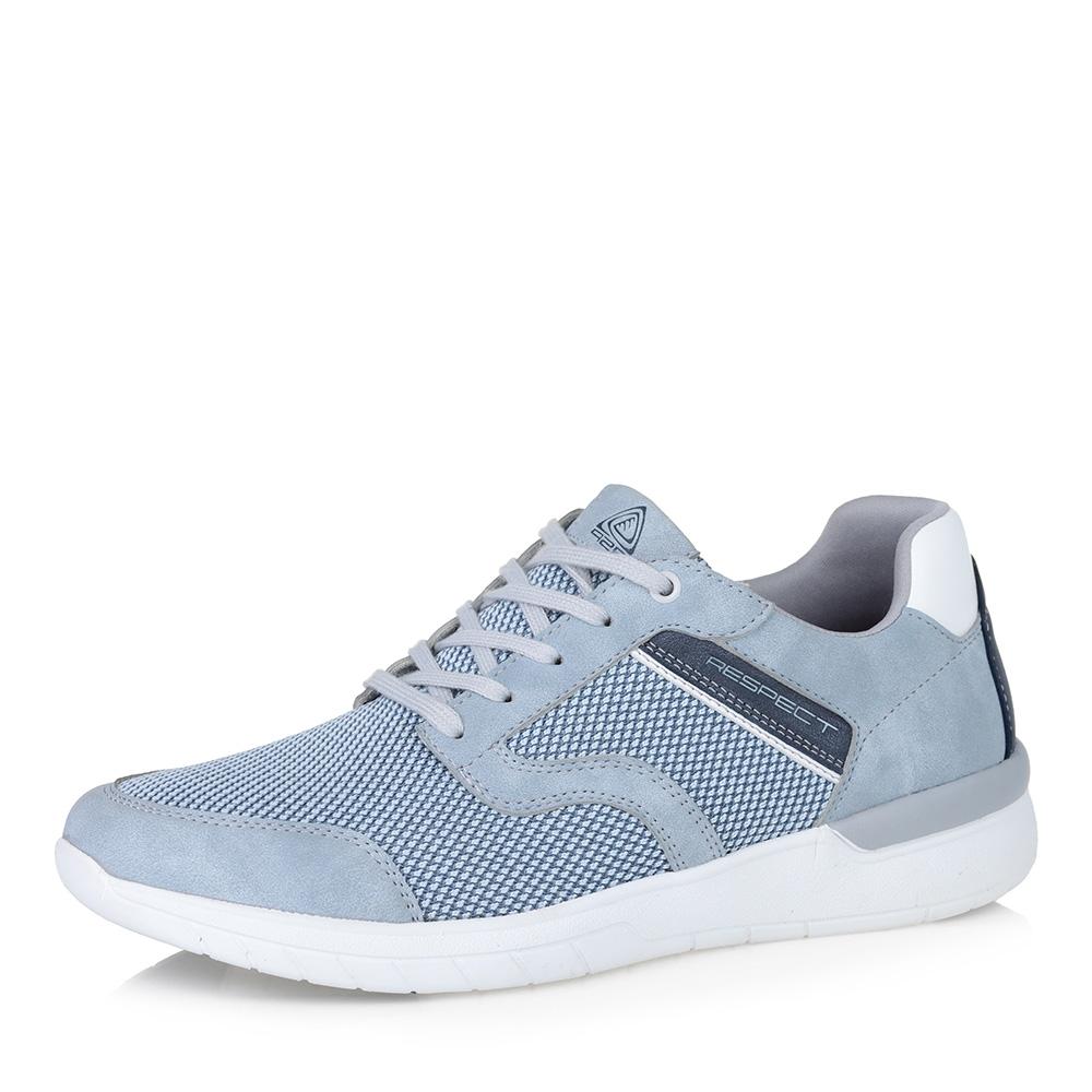 Голубые кроссовки из текстиля фото