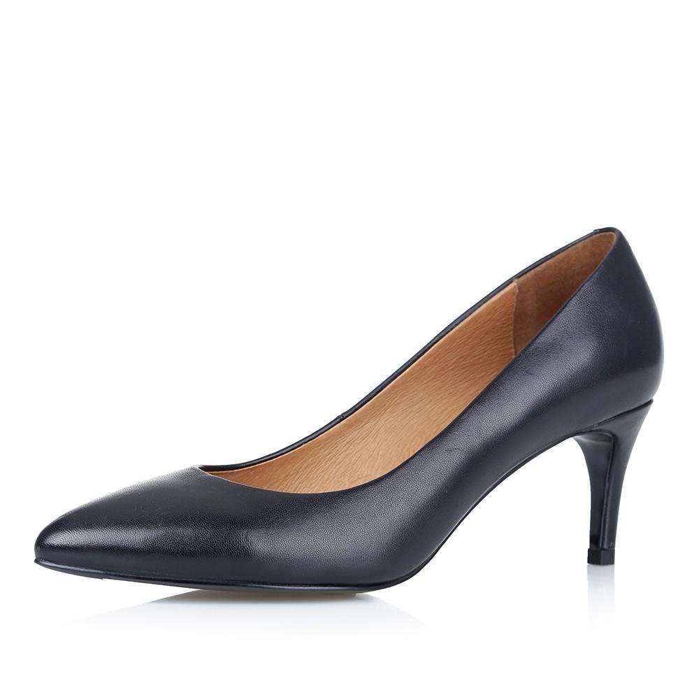 Фото #1: Лодочки на среднем каблуке в черном цвете