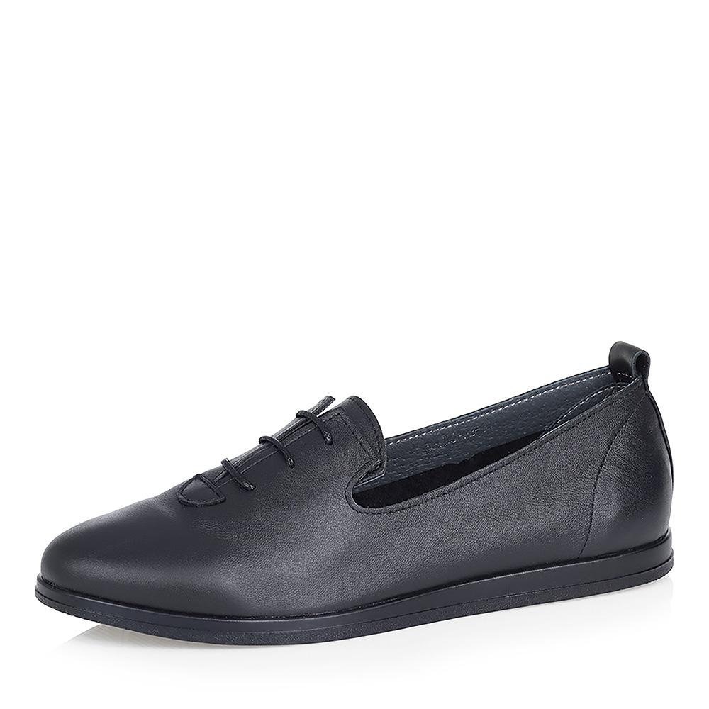 Черные кожаные полуботинки фото
