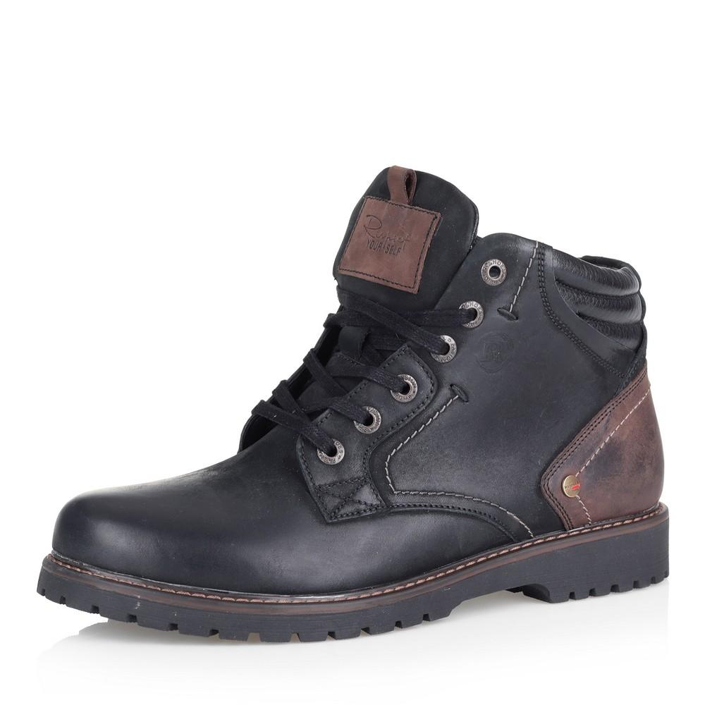 Черные ботинки из нубука на шерсти