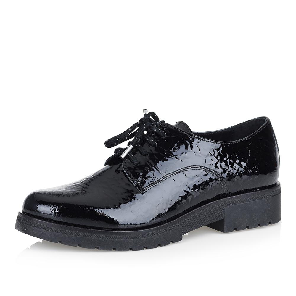 Кожаные лакированные полуботинки чёрного цвета