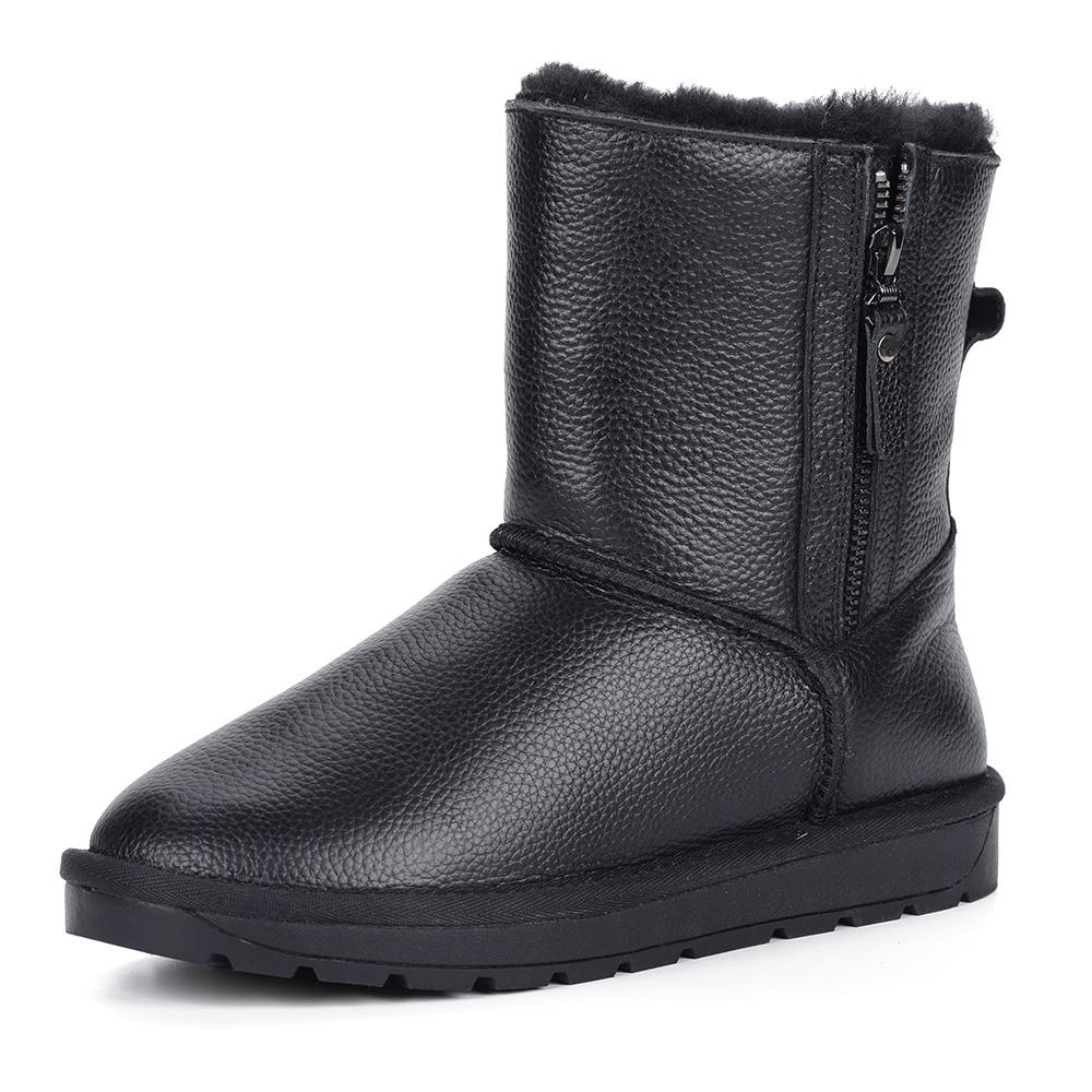Черные кожаные угги