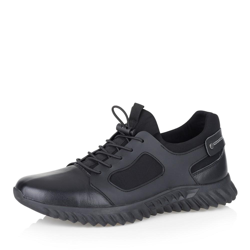 Купить со скидкой Черные кроссовки с текстильными вставками