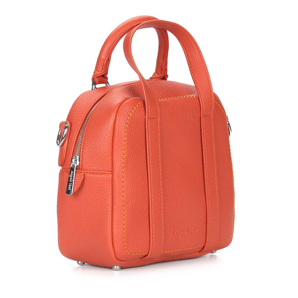 Оранжевая сумка с дополнительной ручкой