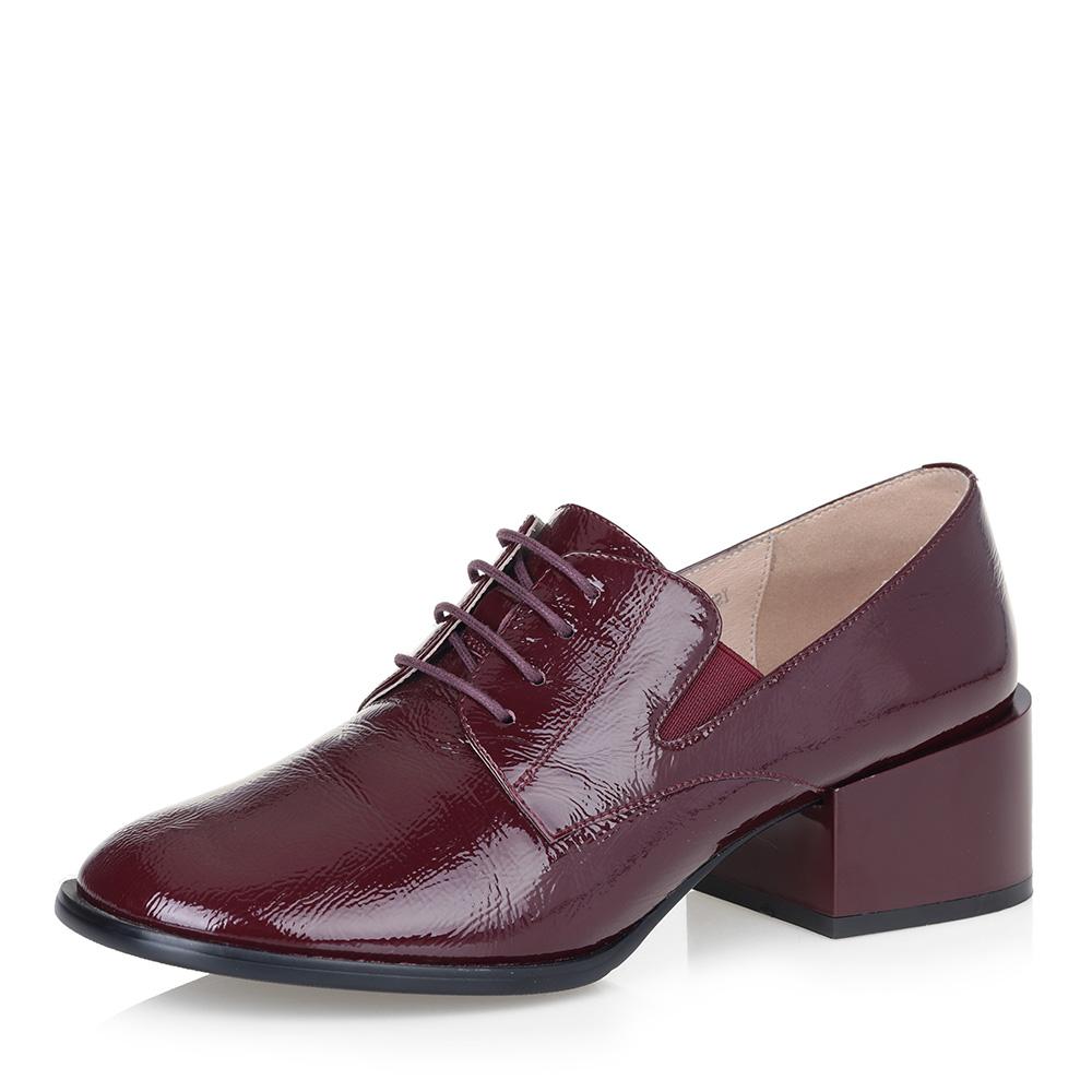 Бордовые туфли на квадратном каблуке фото