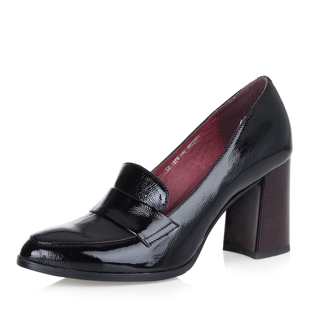 Черные туфли из лакированной кожи фото