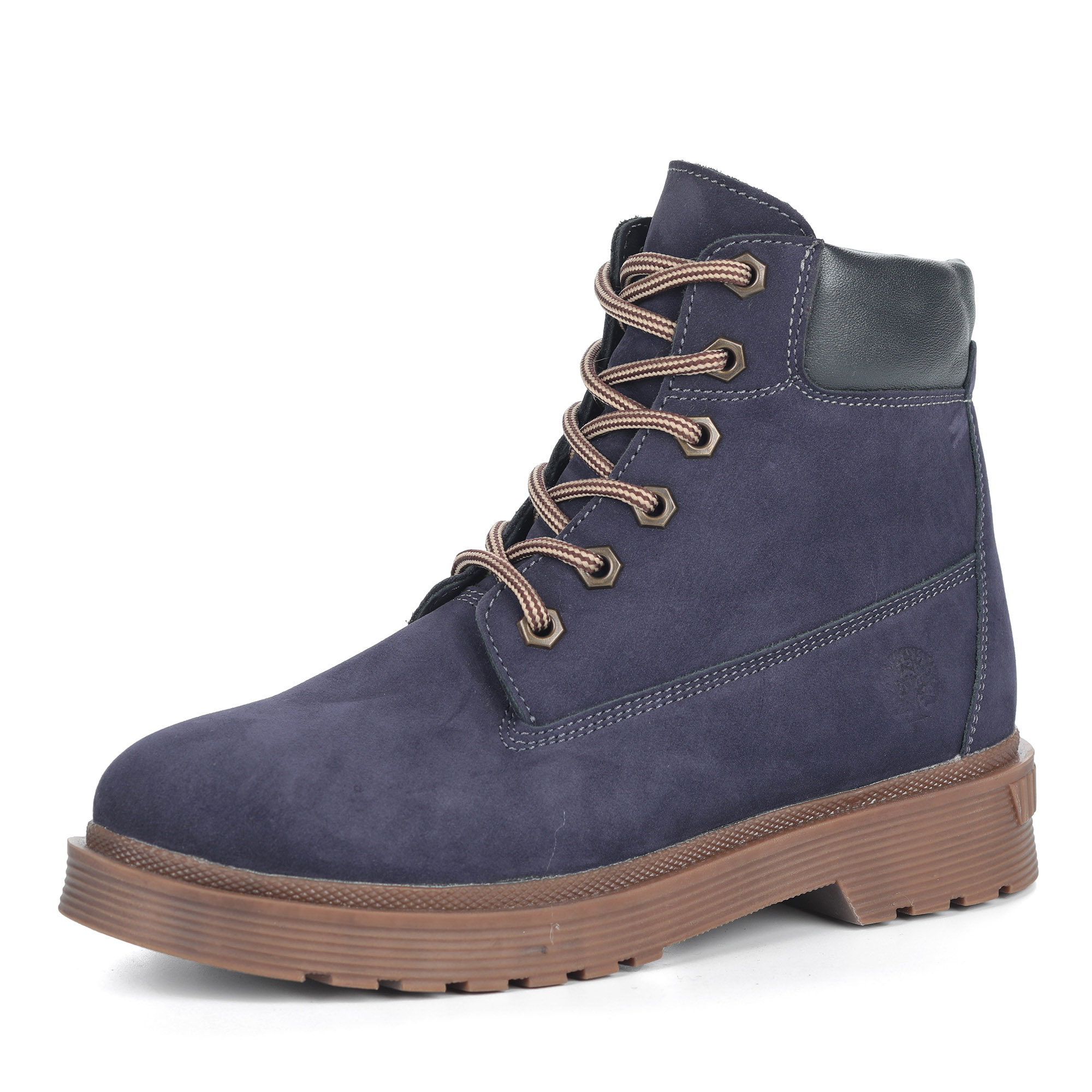 Фиолетовые ботинки из нубука на шерсти