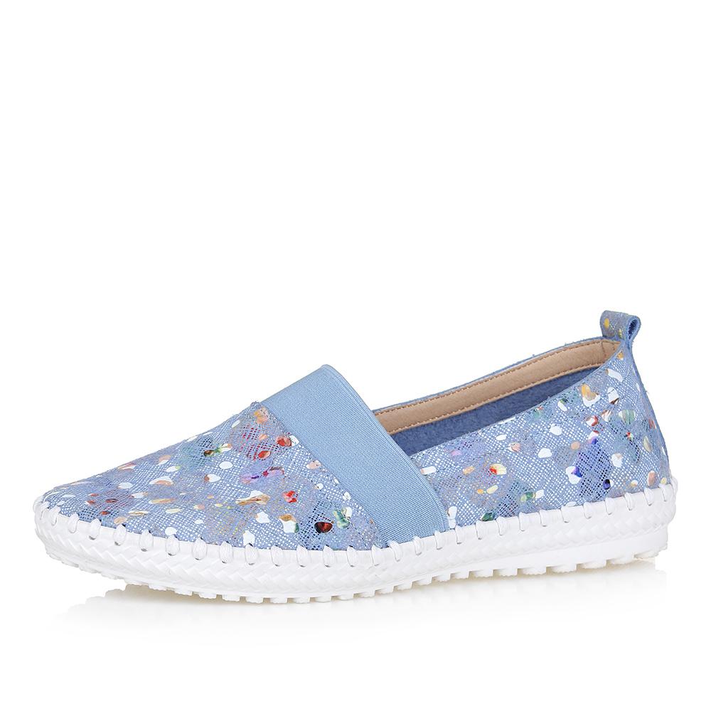 Голубые летние туфли на рифленой подошве фото