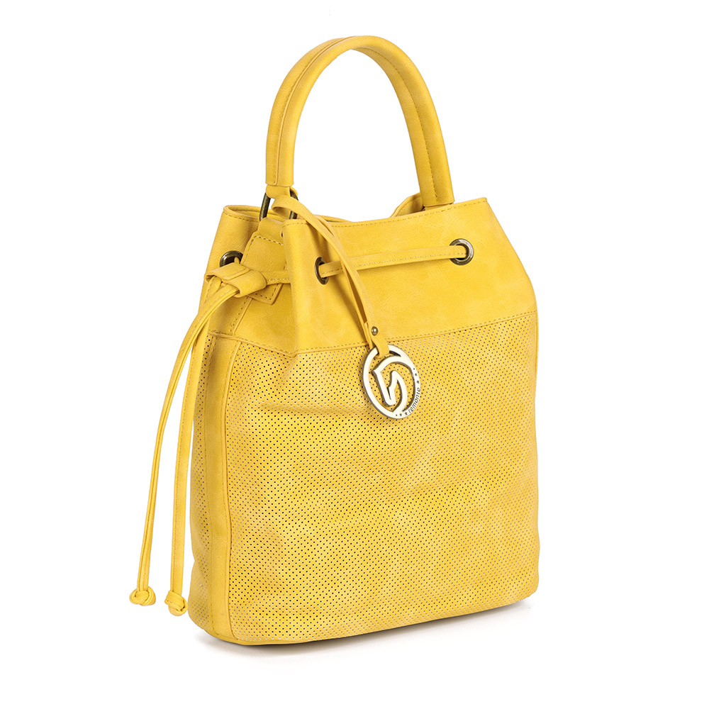 Желтая сумка-мешок