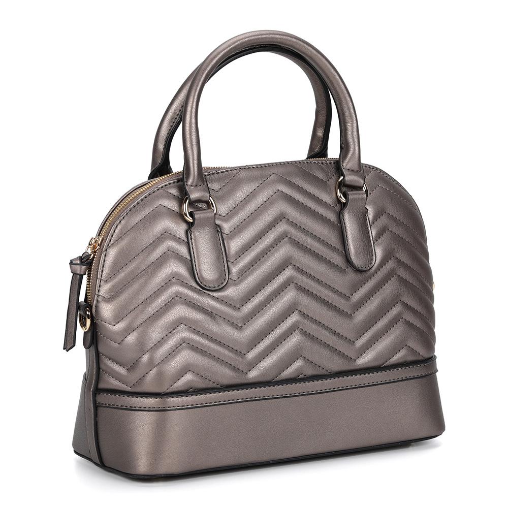 Классическая бронзовая сумка с дополнительной ручкой фото