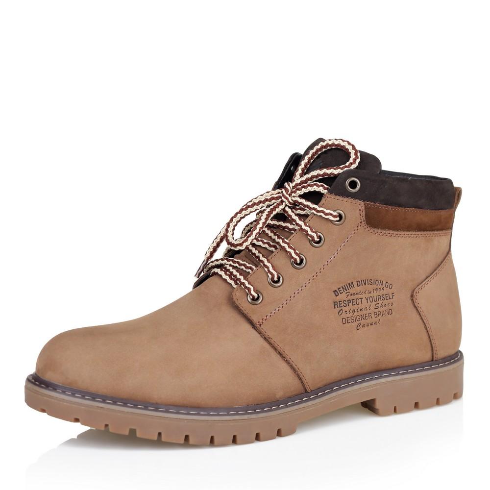 Купить со скидкой Ботинки из нубука светло-коричневого цвета на меху