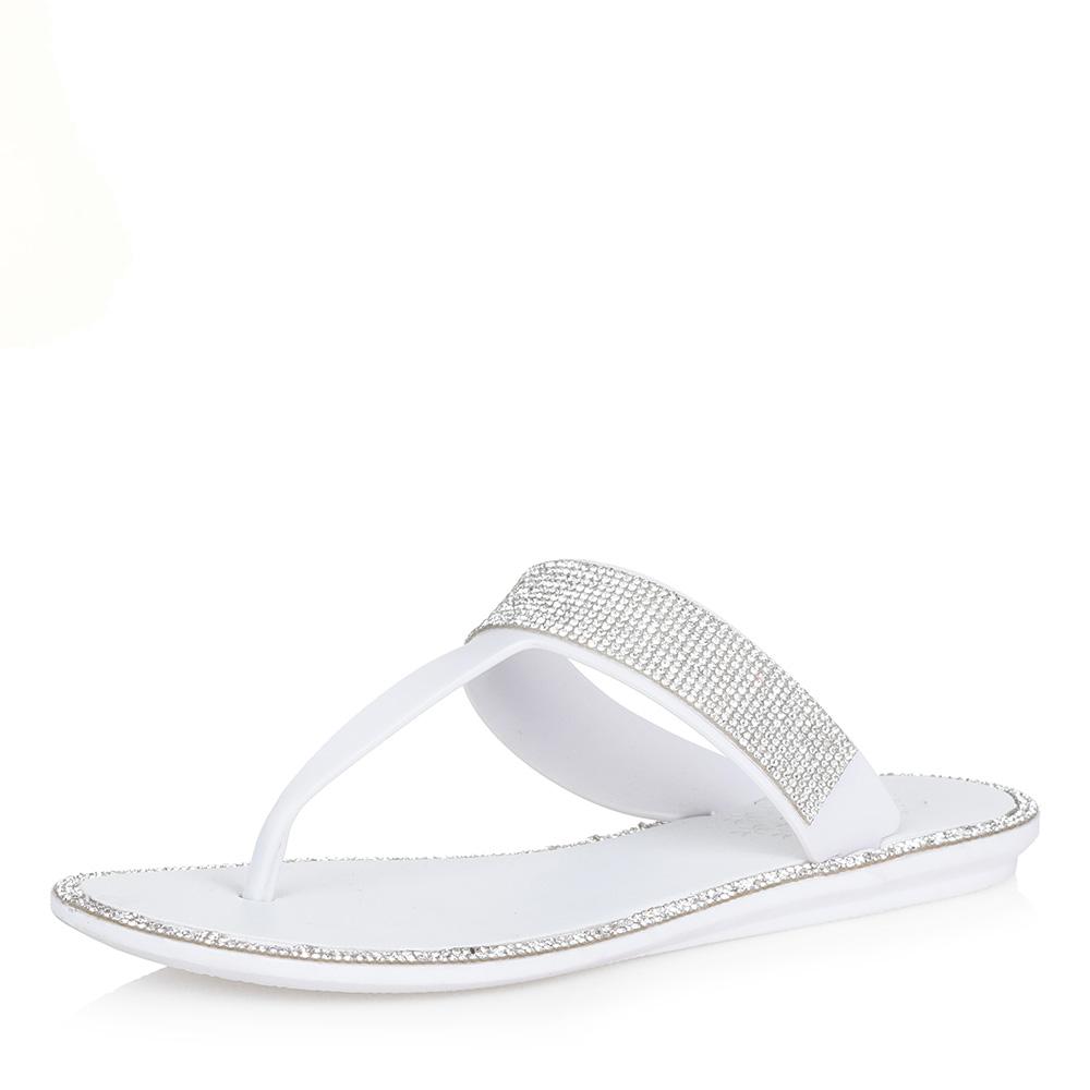 Белые пластиковые пантолеты Respect