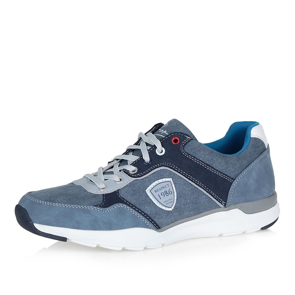 Синие кроссовки на белой подошве Respect
