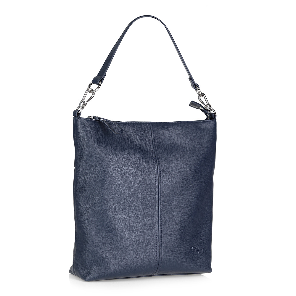 Синяя кожаная сумка фото