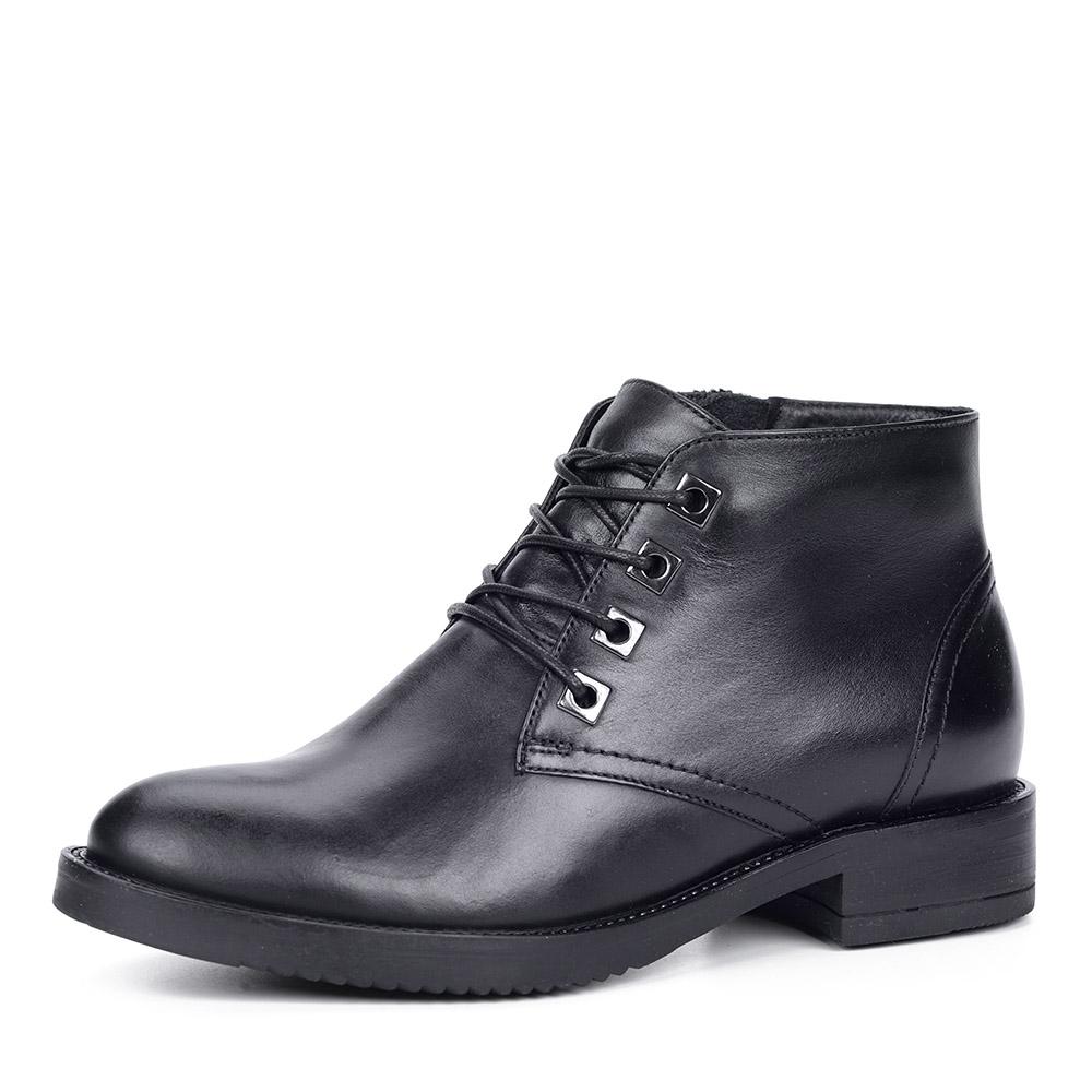 Черные кожаные ботинки фото