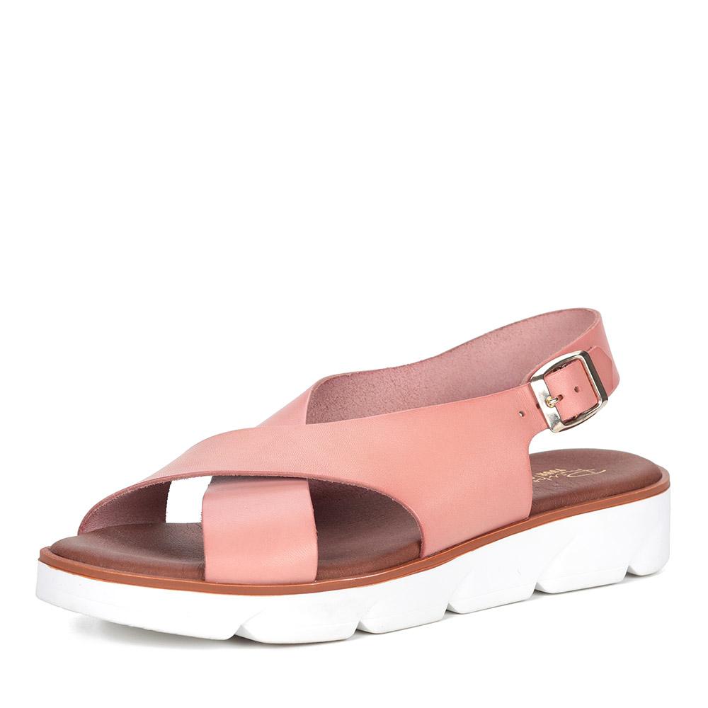 Розовые сандалии на белой подошве фото