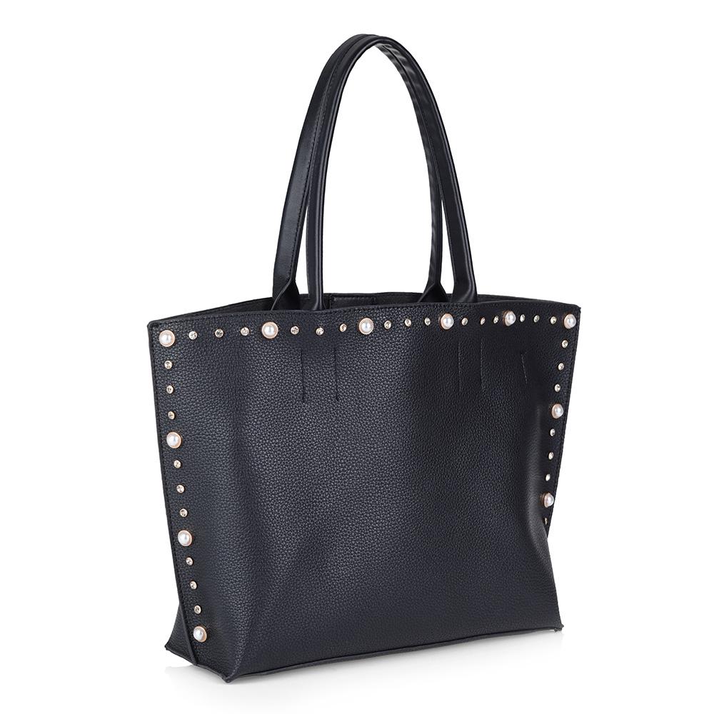 Черная сумка с дополнительным отделением