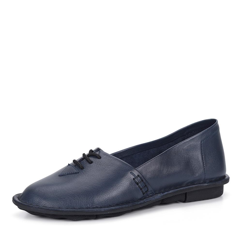 Синие кожаные туфли фото