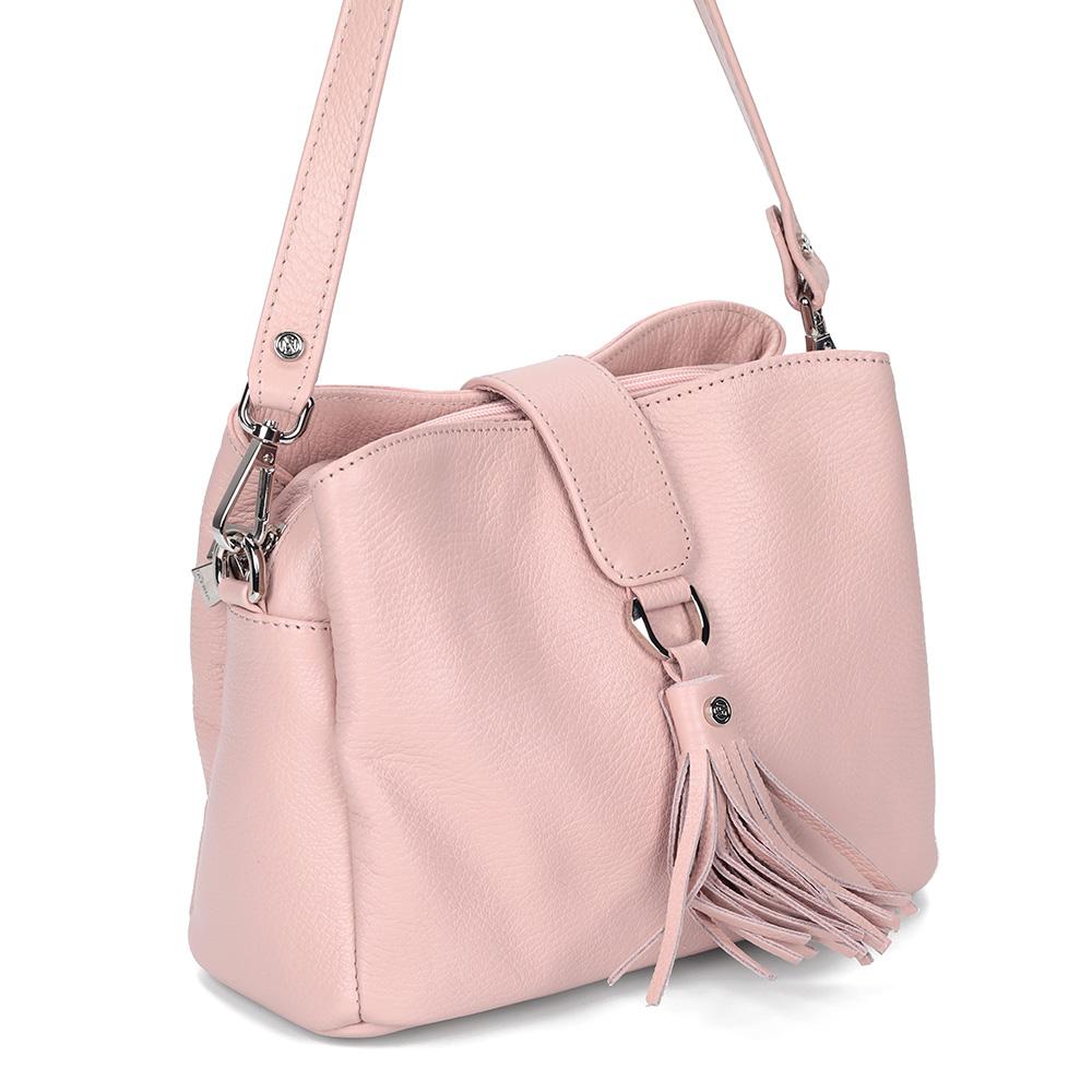 Розовая сумка из кожи фото